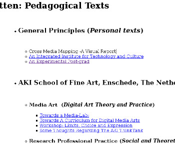 Visual link to pedagogical texts